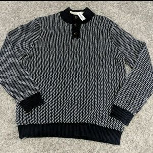 OLD NAVY Navy Blue and White WARM sweater New!